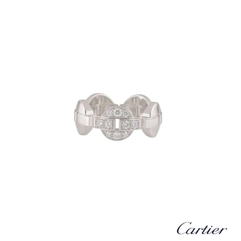 A beautiful 18k white gold Cartier diamond dress ring from the Himalia collection. The ring comprises of 5 Himalia motifs with the centre motif pave set with 10 round brilliant cut diamonds. The diamonds have a total approximate weight of 0.30ct,
