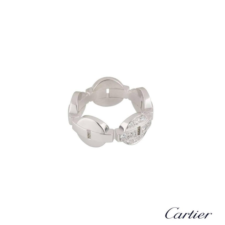 Round Cut Cartier White Gold Diamond Himalia Ring For Sale