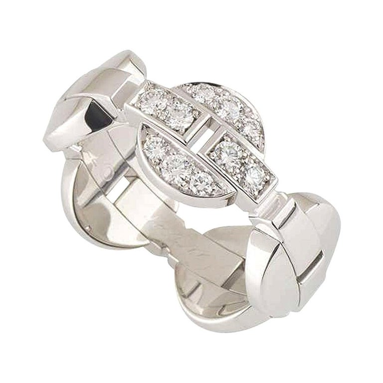 Cartier White Gold Diamond Himalia Ring For Sale