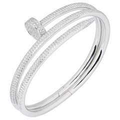 Cartier White Gold Diamond Juste Un Clou Bracelet N6708719