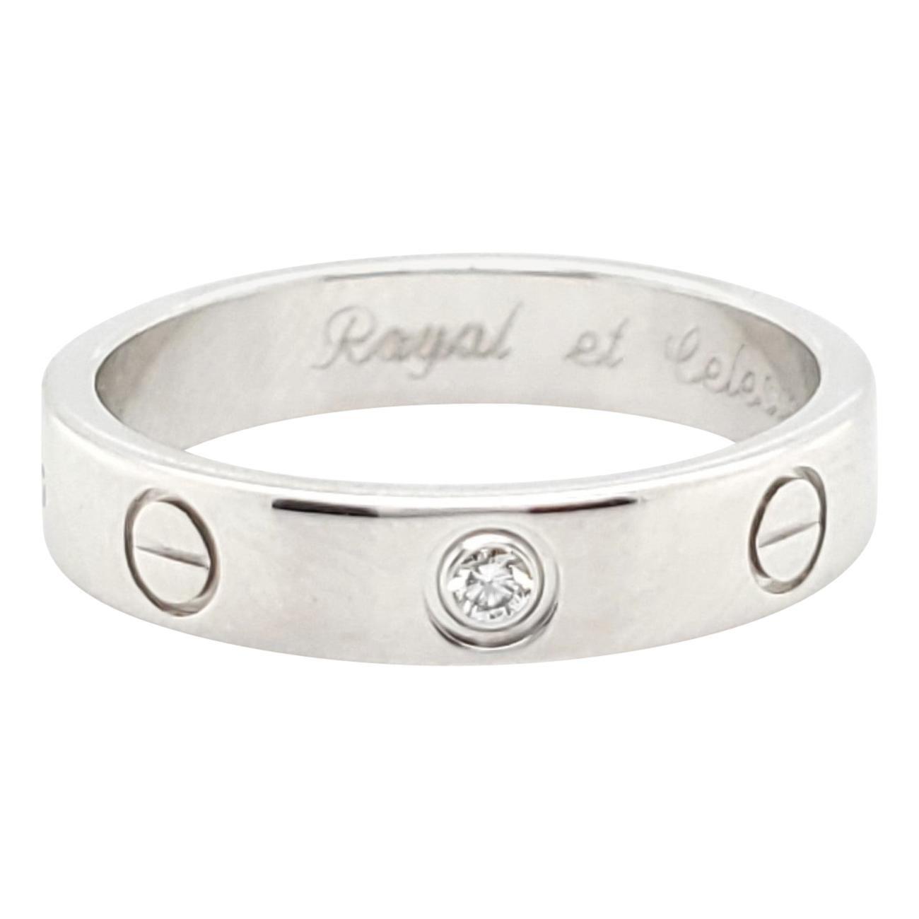 Cartier White Gold Single Diamond Love Ring