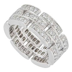 Cartier White Gold Diamond Maillon Panthere Ring B4111700