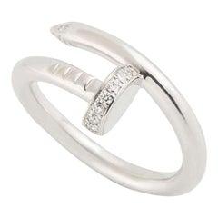 Cartier White Gold Diamond Set Juste Un Clou Ring