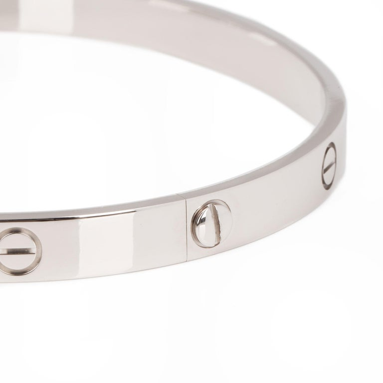 Cartier White Gold Love Bangle For Sale 2