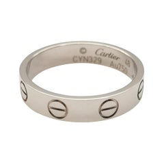 Cartier White Gold Mini Love Wedding Band Ring
