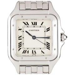 Cartier White Gold Panthere Large Quartz Wristwatch