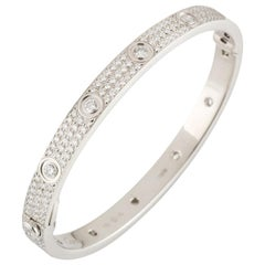 Cartier White Gold Pave Diamond Love Bracelet N6033602