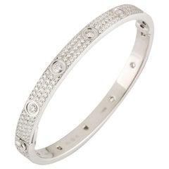 Cartier White Gold Pave Diamond LoveBracelet N6033602