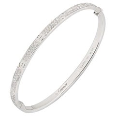 Cartier White Gold Pave Diamond SM Love Bracelet N6710817