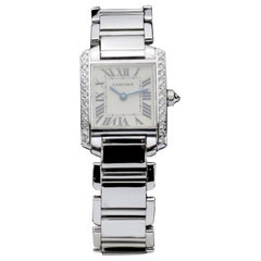 Cartier White Gold Tank Francaise