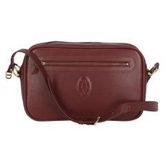 Cartier Women  Shoulder bags  Burgundy Leather