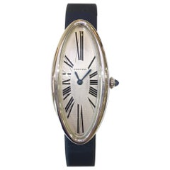 Cartier Women's Baignoire Allongee 18 Karat White Gold Mechanical Watch