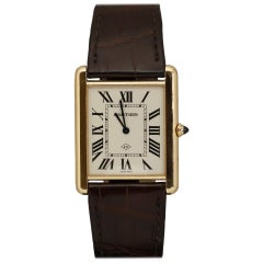 Cartier XL Tank Louis Collaborateur 2013 18k Rose Gold Wristwatch, Modern