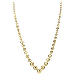 Cartier Yellow Gold 18 Karat Ball Bead Link High Polish Chain Necklace
