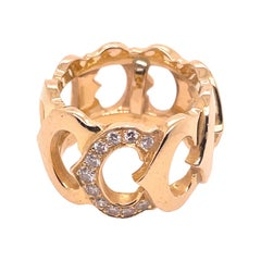 Cartier Yellow Gold and Diamond CCC Ring