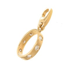 Cartier Yellow Gold and Diamond Love Ring Charm