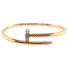 Cartier Yellow Gold and Diamond Nail Bracelet