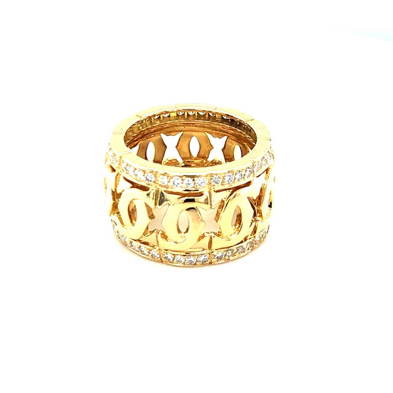 Gorgeous C Ring from Cartier. 18K Yellow Gold.  Size 5.5  Stamped 5 1