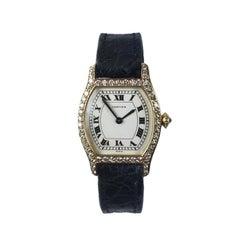 Cartier Yellow Gold and Diamond Tortue Ladies Quartz Wristwatch
