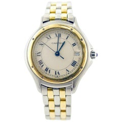 Cartier Yellow Gold and Stainless Steel Women's Cougar Watch