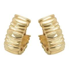 Cartier Yellow Gold Baignoire Earrings