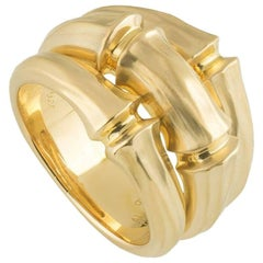 Cartier Yellow Gold Bamboo Ring