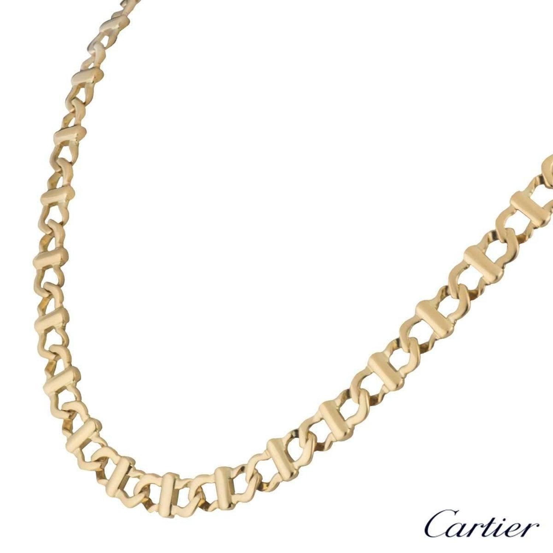 33062aaeb1e Cartier Yellow Gold Chain at 1stdibs