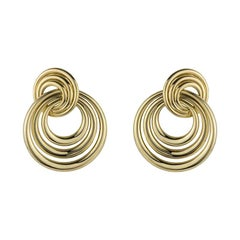 Cartier Yellow Gold Circular Earrings