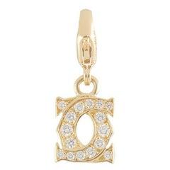 Cartier Yellow Gold Diamond C De Cartier Charm
