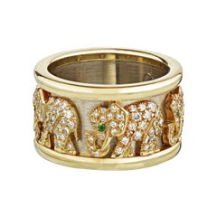 Cartier Yellow Gold Diamond Elephant 18 Karat Cocktail Ring