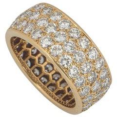 Cartier Yellow Gold Diamond Full Eternity Ring 3.60 Carat