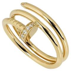 Cartier Yellow Gold Diamond Juste Un Clou Ring B4211800