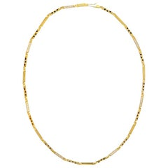 Cartier Yellow Gold Diamond Panther Black Pattern 18 Karat Chain Style Necklace
