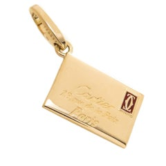 Cartier Yellow Gold Envelope Charm