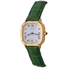 Cartier Yellow Gold Ladies Manual Wind Wristwatch