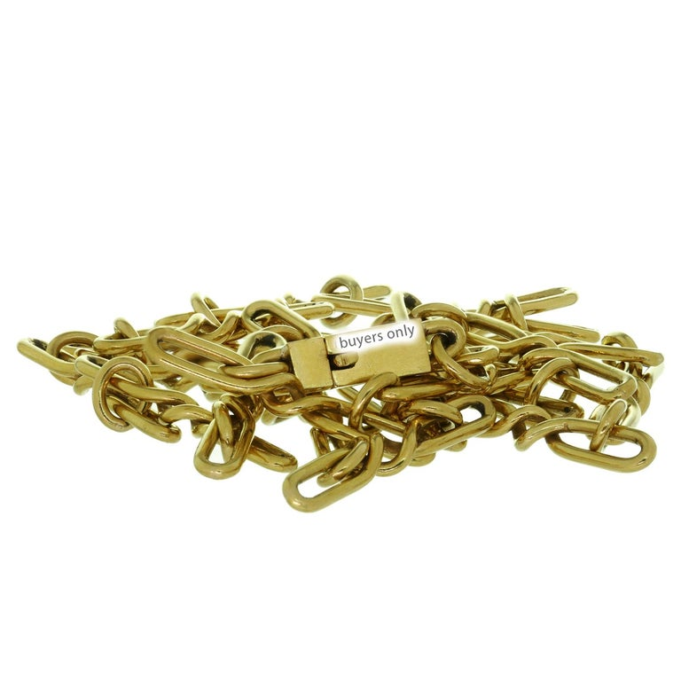 CARTIER Yellow Gold Long Link Chain Necklace  For Sale 3