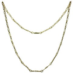 CARTIER Yellow Gold Long Link Chain Necklace