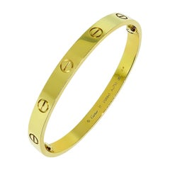 Cartier Yellow Gold Love Bangle Bracelet