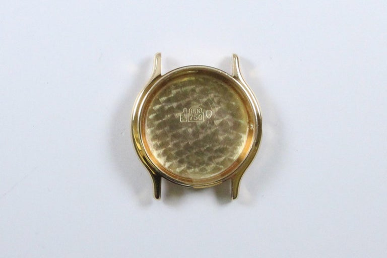 Vintage Cartier Paris 18k Yellow Gold Manual Wind Lady's Wristwatch circa 1980s For Sale 6