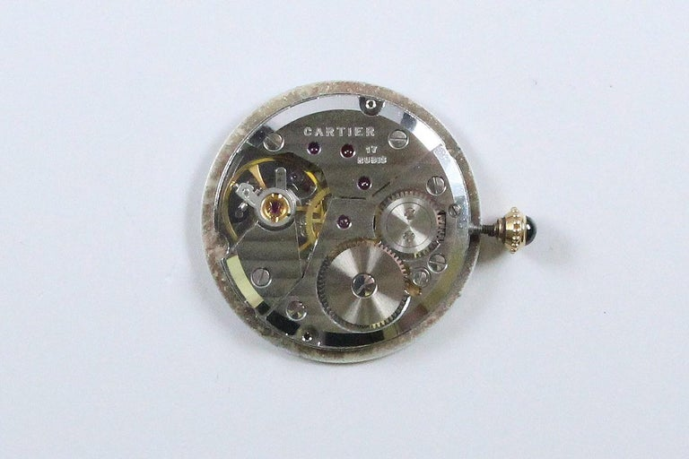 Vintage Cartier Paris 18k Yellow Gold Manual Wind Lady's Wristwatch circa 1980s For Sale 7