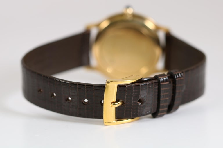 Vintage Cartier Paris 18k Yellow Gold Manual Wind Lady's Wristwatch circa 1980s For Sale 5