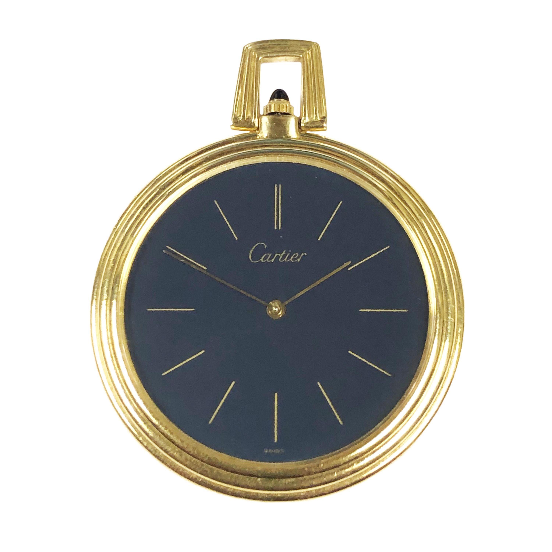 Cartier Yellow Gold Mechanical Pocket Watch