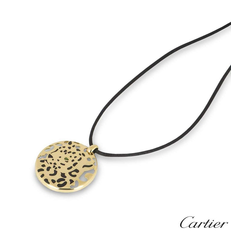 Cartier Yellow Gold Panthere Necklace In Excellent Condition For Sale In London, GB