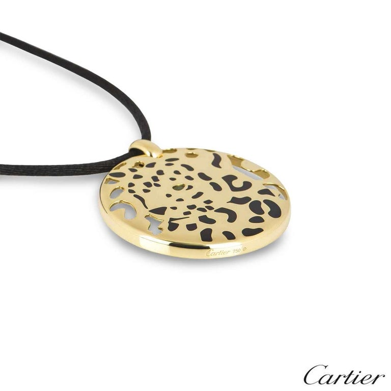 Women's Cartier Yellow Gold Panthere Necklace For Sale
