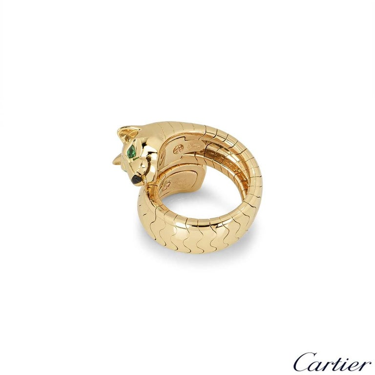 Cartier Yellow Gold Panthere Ring In Excellent Condition For Sale In London, GB