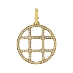 Cartier Yellow Gold Pasha De 18 Karat Diamond Pendant Necklace