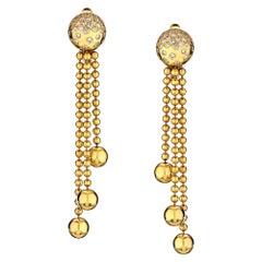 Cartier Yellow Gold Pluie De Diamants Drop Dangle Earrings