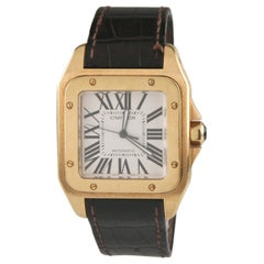 Cartier Yellow Gold Santos 100 Automatic Wristwatch Ref 2657