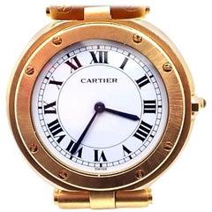 Cartier Yellow Gold Santos De Cartier Quartz Wristwatch