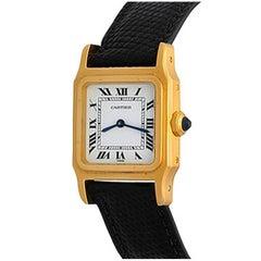 Cartier Yellow Gold Santos Midsize Manual Wind Wristwatch